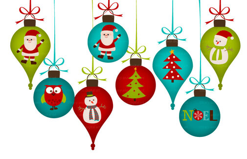 Various Christmas Ornaments