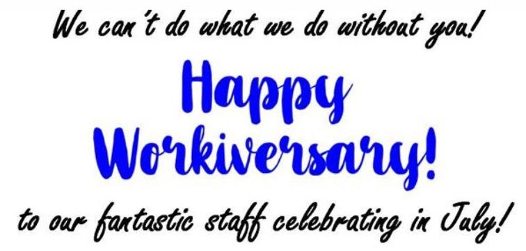 Happy Workiversary!